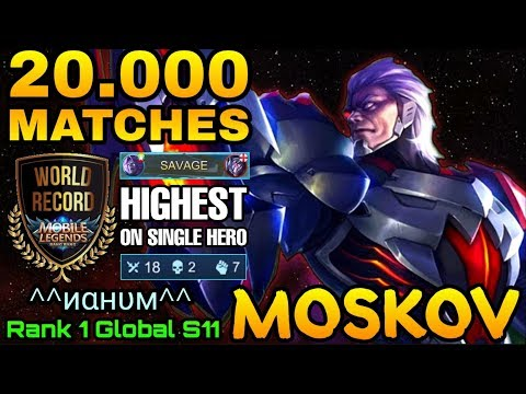 SAVAGE!! New World Record Highest 20.000 Matches Moskov In Mobile Legends History By ^^иαнυм^^