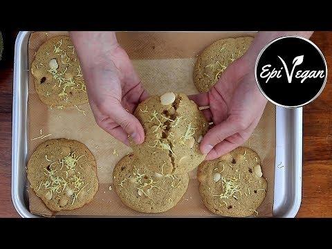 Chewy Vegan Cookies - Lemon and macadamia nut