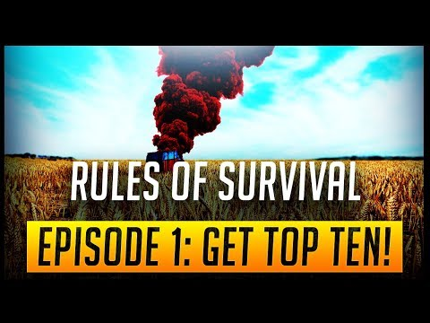 RULES OF SURVIVAL: EPISODE 1 | AIMING FOR TOP 10 STRATEGY