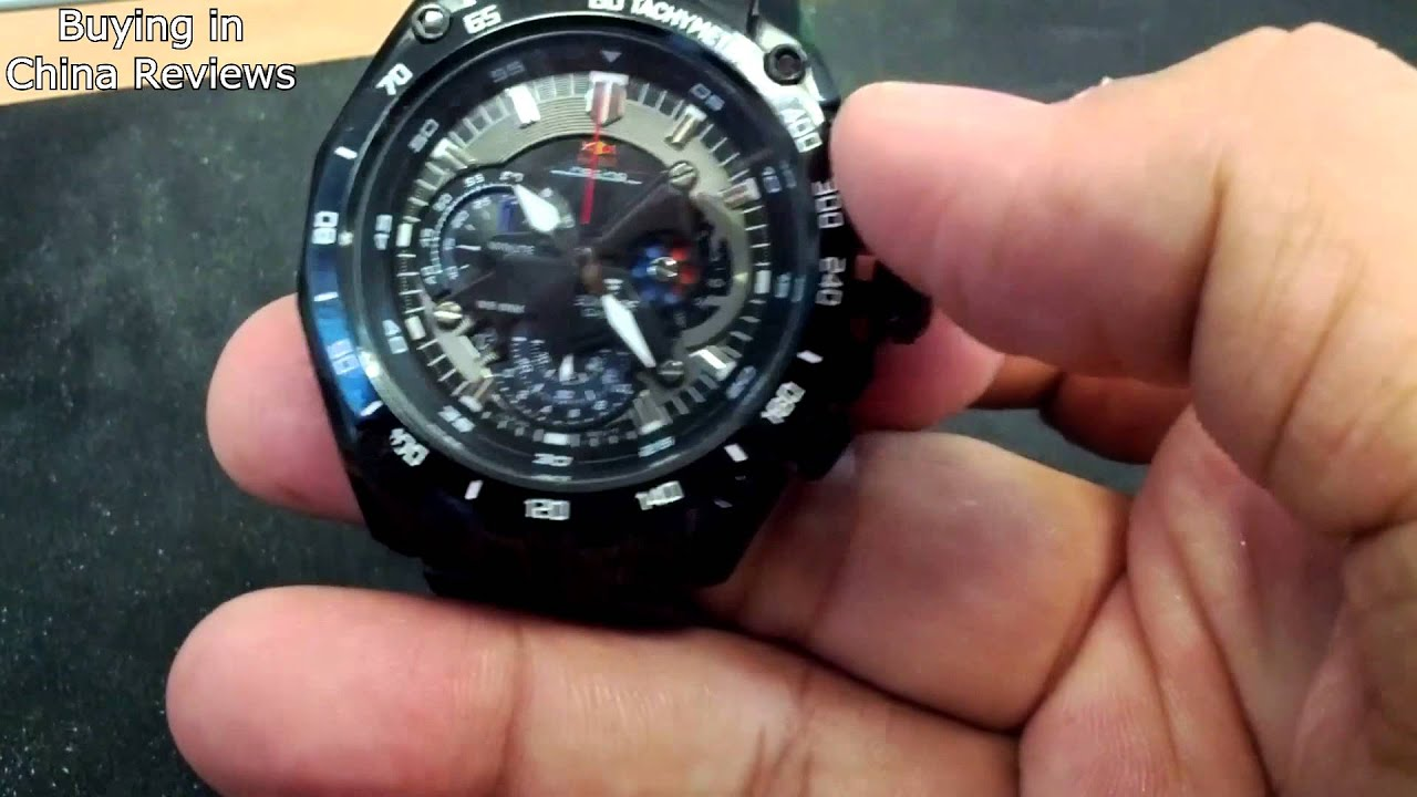 9922b1be2ae8 Casio Edifice 550D Red Bull Racing quick video review - YouTube