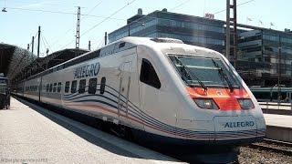 Helsinki rautatieasema mit/kanssa Sm6 (Allegro), Sm5 (FLIRT), Sm3 (ETR 460), Sm1, Sm4, Sr2