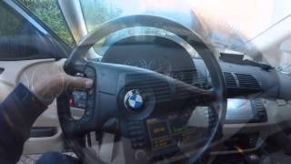 BMW X5  autoradio  demantage & intallation cable 5m de 40pin