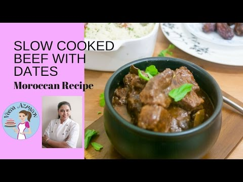 Slow Cooked Beef with Dates and Hot Paprika Moroccan Beef Recipe Beef Tagine