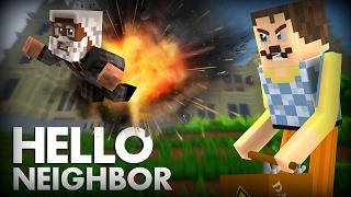 Minecraft Hello Neighbor: The Neighbor Blows up Wayne Manor with TNT