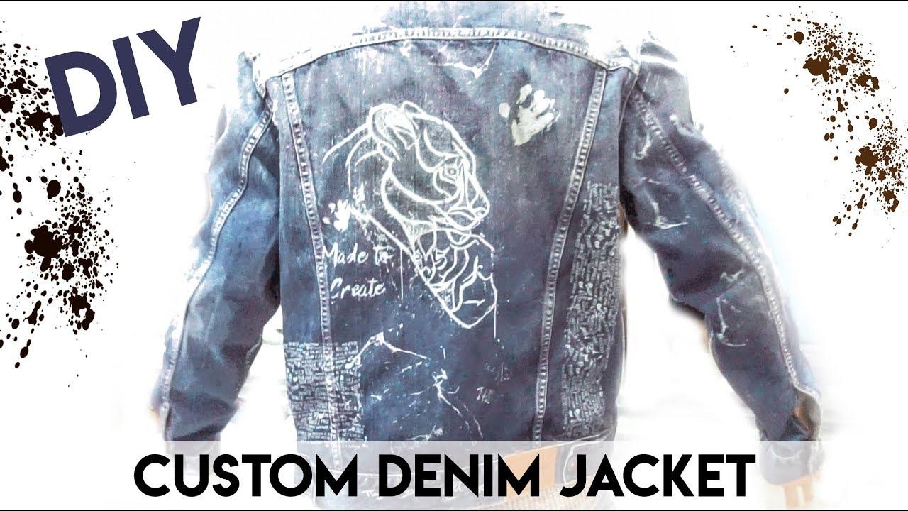 5827b9ab9dc22e HOW TO CUSTOM DENIM JACKET - DIY CUSTOMIZATION JACKET - YouTube