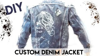 HOW TO CUSTOM DENIM JACKET - DIY CUSTOMIZATION JACKET