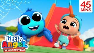 Ayo Main Seluncuran, Laba-Laba Kecil! | Lagu Anak | Little Angel Bahasa Indonesia
