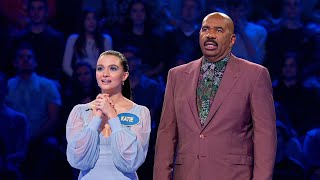 'The Bold Type's' Katie Stevens Plays Fast Money - Celebrity Family Feud
