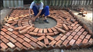 Use Bricks To Create A Beautiful Work Of Art As A Playground In The Garden - Garden Construction