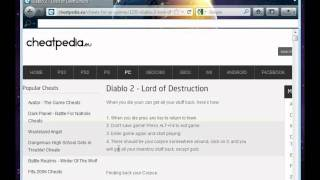 diablo -2 cheats- lord of destructionavi