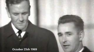 Brian Clough and Don Revie, October 1969