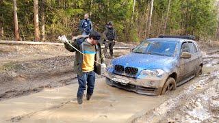 BMW X5 с лебедкой проедет везде