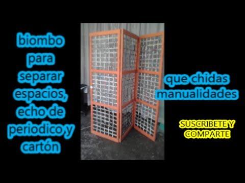 Biombo de periodico y cart n newspaper and cardboard - Biombo de carton ...