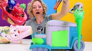 PJ Masks Toys - Nicole erzählt eine Gute-Nacht-Geschichte - Spielzeugvideo für Kinder