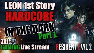 Resident Evil 2 Leon Story A HARDCORE Mode IN THE DARK (PC) Part 1