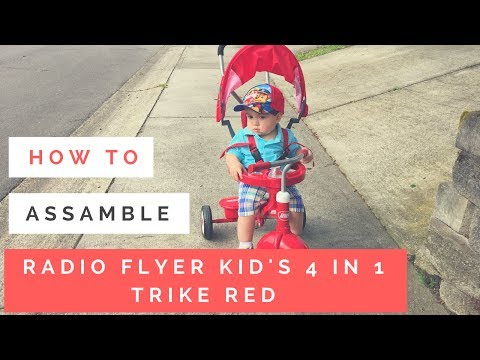 RADIO FLYER KID'S 4 IN 1 TRIKE RED - HOW TO ASSEMBLE & UNBOXING