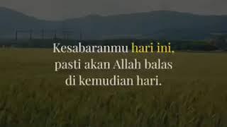 Bersabarlah... Allah tahu yang terbaik untukmu.