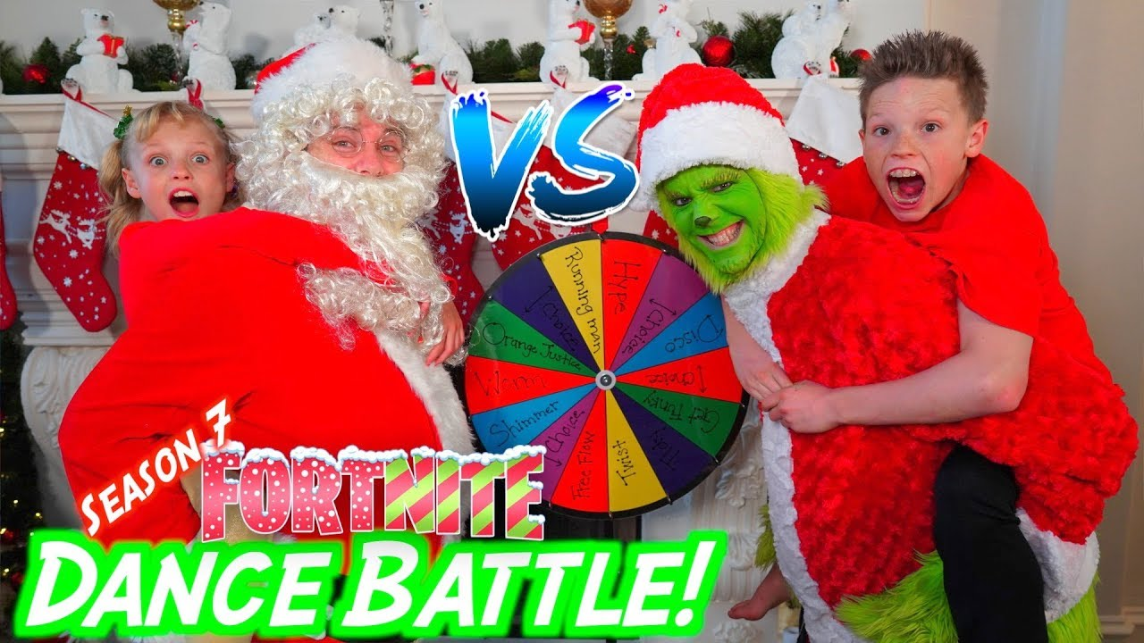 The Grinch Vs Santa Claus Fortnite Dance Battle Youtube