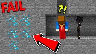 Minecraft pod ziemią - JAK NIE SZUKAĆ DIAMENTÓW XD!! #3