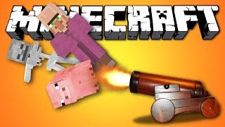 СТРЕЛЬБА МОБАМИ - Minecraft (Обзор Мода)