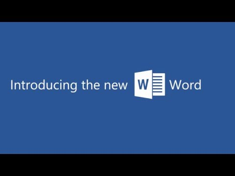 Introducing the new Word 2016 in Office 365