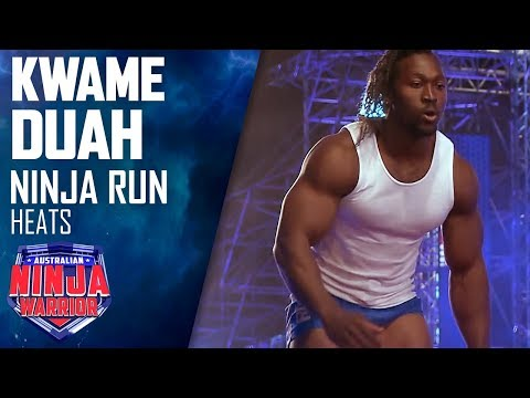 Body Building Champion Kwame Duah Tackles The Course | Australian Ninja Warrior 2019