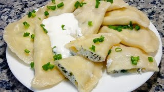 ЭТИ ВАРЕНИКИ СЪЕДАЮТСЯ В ОДНО МГНОВЕНИЕ! ❤ Вареники с творогом и зеленью ❤ Delicious dumplings