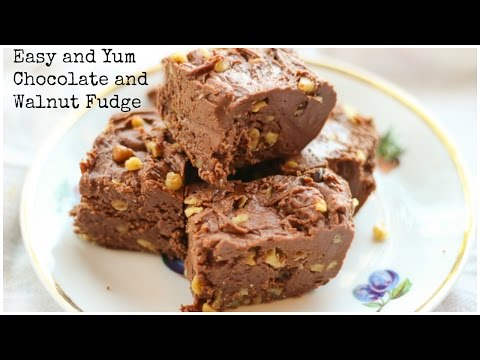 Download Youtube: The Easiest and Best Milk Chocolate and Walnut Fudge - Cooking Video - Honest & Tasty