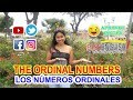 Lesson 39: ORDINAL NUMBERS( Los números ordinales en Inglés)