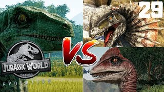 Jurassic World Evolution PL #29 - Turniej Maluchów - Raptor vs Dilo vs Deino
