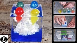 Balloons in the Clouds Epoxy Resin Paperweight | Ivory Soap Microwave Technique | DIY