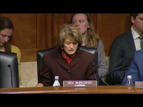 Senate Energy and Natural Resources Subcomittee Hearing Opening Statement