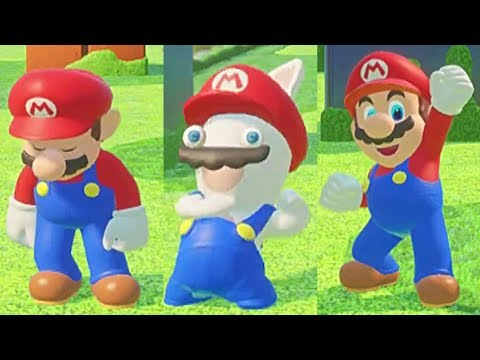 Mario + Rabbids Kingdom Battle: All DEATHS, Game Over Screens And Winning Animations!