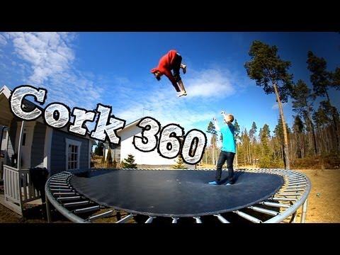 trampoline cork 360 and 540 tutorial doovi. Black Bedroom Furniture Sets. Home Design Ideas