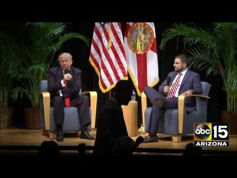 AFTER DEBATE: Donald Trump at the Miami Dade College Memorial Center