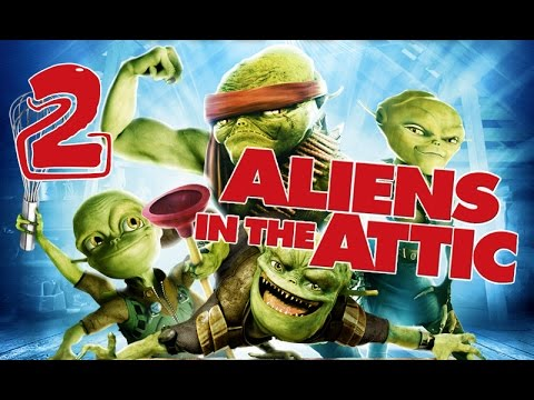 Aliens In The Attic Walkthrough Part 2 Ps2 Wii Pc Movie Game Level 02