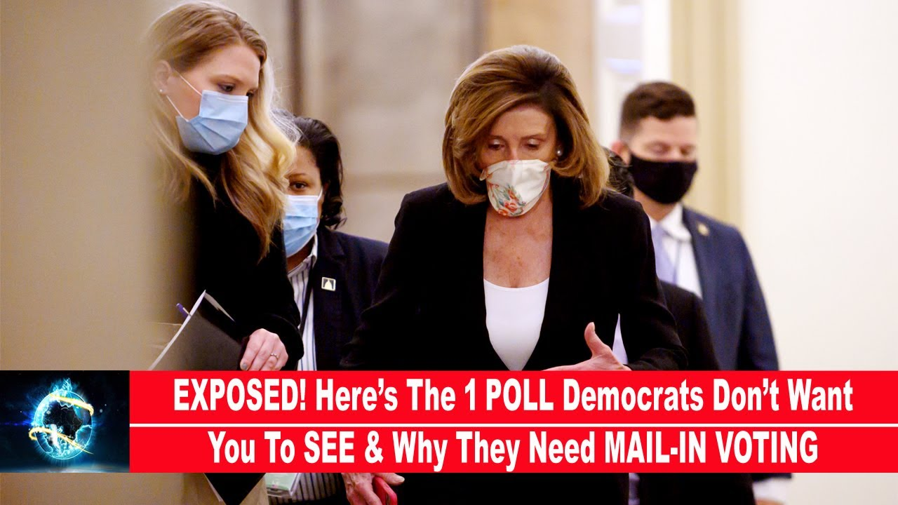 EXPOSED! Here's The 1 POLL Democrats Don't Want You To SEE & Why They Need MAIL-IN VOTING!!!