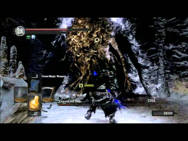 Dark Souls DLC HD PS3 - Secrets and Lore Waltkhrough 21 (Nito and the Way of the White)