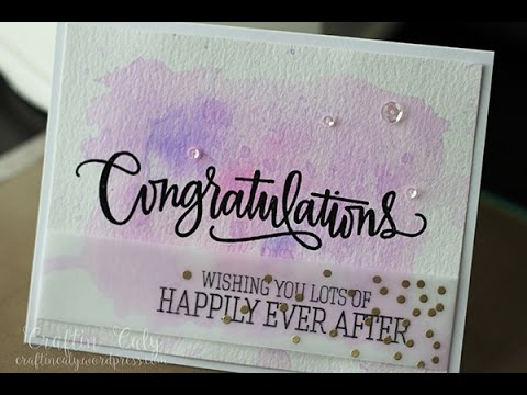 Congratulations Wedding Card UPDATE YouTube