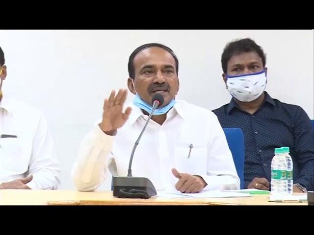 Health Minister Eatala Rajendar Press Meet on Corona Virus Situation in Telangana (29-06-2020)