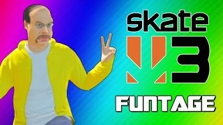 Skate 3 Funny Moments 2 - Glitchy Stairs, Cocoon, Trick Fails, Becoming Pro Skaters! (Funtage)