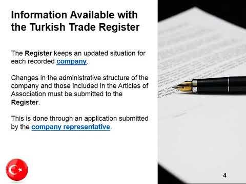 Company Trade Register in Turkey