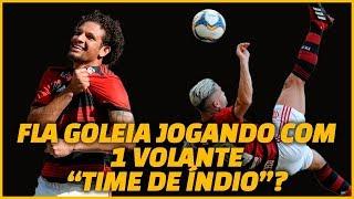 """Flamengo jogo com um volante, """"time de índio"""" como diz Abel. E vai bem"""