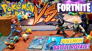 POKEMON VS. FORTNITE! FIRST EVER POKEMON CARDS FORTNITE BATTLE ROYALE TRADING CARD CUSTOM PLAYMAT!