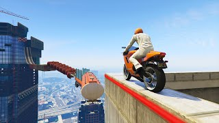 IMPOSSIBLE BIKE PARKOUR vs. SIDEMEN! (GTA 5 Funny Moments)