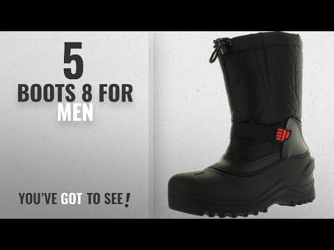 Top 10 Boots 8 [ Winter 2018 ]: Climate X Mens Ysc5 Snow Boot,Black,8