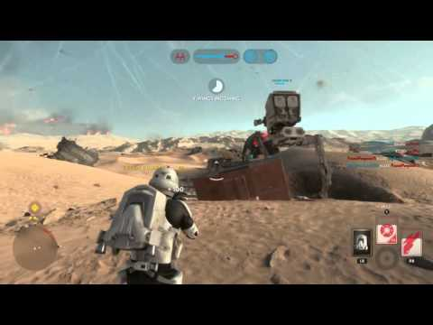 Star Wars Battlefront 76-2 gameplay on Jakku (No Heroes, vehicles or turrets.)
