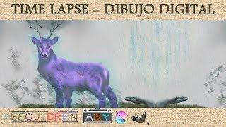 ✍️ Dibujo Digital Tableta Wacom - Time Lapse Krita - Neverwinter Nights - 👻 Espíritu del Bosque