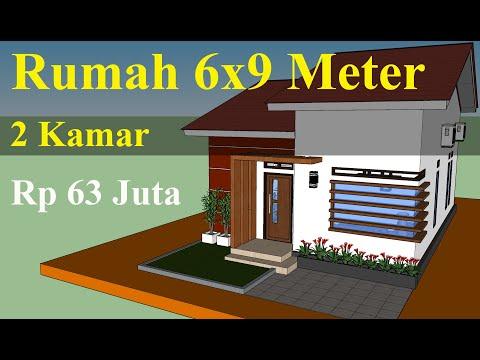 Desain Rumah 6x9 Meter Minimalis Sederhana Anggaran Dananya Youtube