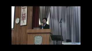 2011年5月13日 作家黃擎天先生講座 - 個人寫作經歷分享